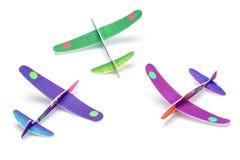聚苯乙烯泡沫塑料玩具飞机 库存图片