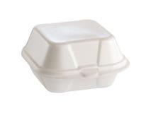 聚苯乙烯泡沫塑料箱子 库存图片
