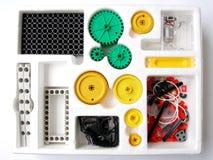 聚集的工具箱物理玩具 免版税图库摄影
