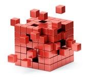 聚集的立方体结构概念 向量例证