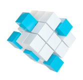 聚集从块的抽象立方体 库存图片
