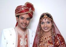 聪慧的夫妇印地安人 库存照片