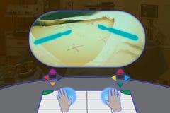 聪明医疗与浓缩被增添的和虚拟现实的技术 免版税库存图片
