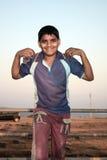 聪明印第安的孩子 免版税库存照片