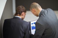聪明商务伙伴沟通 免版税库存图片