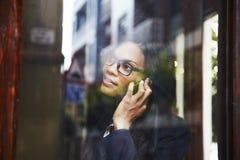 聪明女实业家的照片 免版税库存图片