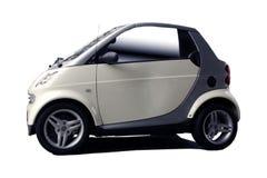 聪明汽车的城市 免版税库存照片