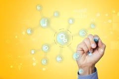 聪明的产业和自动化概念 事互联网  IOT,技术概念 免版税库存图片