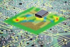 聪明的农业未来派概念,人工智能wo 免版税库存照片