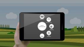 聪明的农业聪明种田,感人的在巧妙的垫,巧妙的片剂,事互联网的信息图表象  2 股票录像