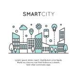 聪明的城市概念 库存例证
