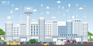 聪明的城市的概念都市风景的 皇族释放例证