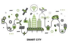 聪明的城市的概念,未来技术  皇族释放例证