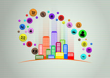 聪明的城市 免版税库存图片