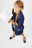 聪明的女孩 免版税图库摄影