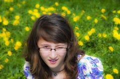 聪明的女孩 免版税库存照片