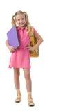 聪明的女小学生 库存照片