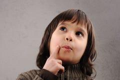 聪明的孩子男小学生系列 免版税图库摄影