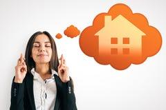 聪明的家和愿望概念 免版税库存照片