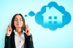 聪明的家和成功概念 免版税库存图片