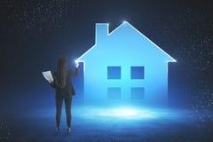 聪明的家和未来概念 免版税库存图片