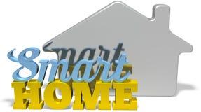 聪明的家庭高效率的自动化措辞标志 免版税库存照片