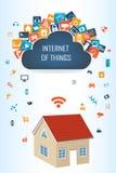 聪明的房子和云彩apps 向量例证