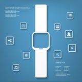 聪明的手表概念传染媒介例证 图库摄影