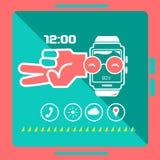 聪明的手表概念 库存图片