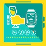 聪明的手表概念 免版税图库摄影