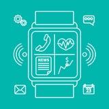 聪明的手表概述 免版税库存照片