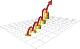 聪明的投资挣金钱 向量例证