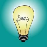 聪明的电灯泡 免版税库存照片