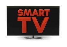 聪明的电视 免版税库存照片