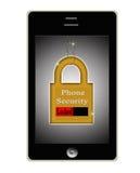 聪明的电话电池证券锁定概念徽标 免版税库存照片
