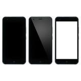 聪明的电话空白 有空白的显示的智能手机 免版税库存照片