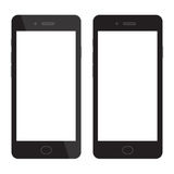聪明的电话空白 有空白的显示的智能手机 免版税库存图片