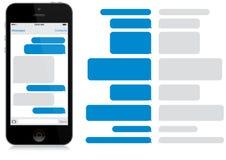 聪明的电话闲谈窗口(App) 库存图片