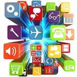 聪明的电话apps 免版税库存图片