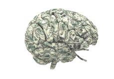 聪明的脑子可能挣更多钱 库存照片