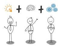 聪明的进展想法 向量例证