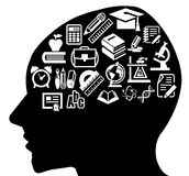 聪明的头脑 向量例证