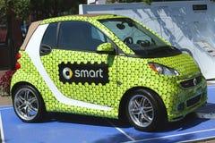 聪明的Brabus泰勒在显示做了汽车在比利・简・金国家网球中心在美国公开赛期间2013年 库存照片