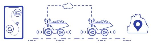 聪明运输和交换 图库摄影