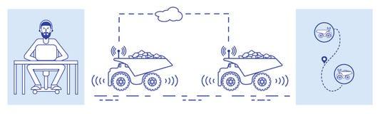 聪明运输和交换 库存照片