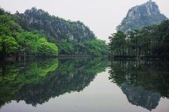 肇庆风景七个星的碎片 库存照片