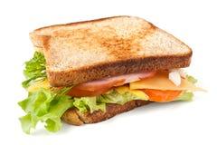 肉、莴苣、乳酪和蛋三明治 库存图片