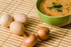 肉丸汤 免版税库存照片
