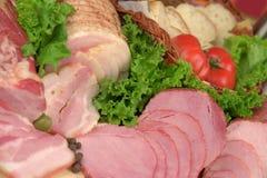 肉制品抽烟了 免版税库存照片