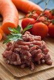 肉剁碎了 免版税库存照片